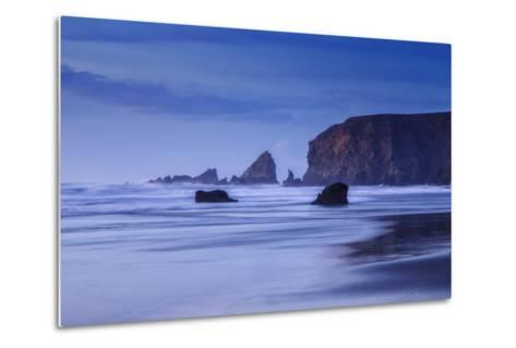 Bluesy Beach, Fort Bragg Mendocino California-Vincent James-Metal Print
