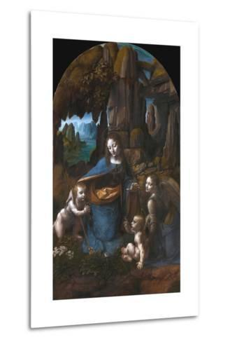Virgin of the Rocks-Leonardo da Vinci-Metal Print