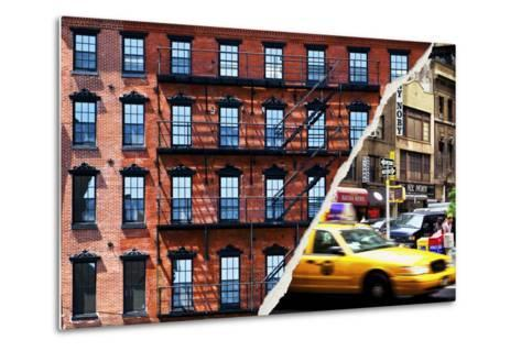 Dual Torn Posters Series - New York City-Philippe Hugonnard-Metal Print