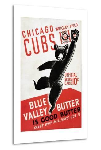1939 Chicago Cubs Baseball Scorecard--Metal Print