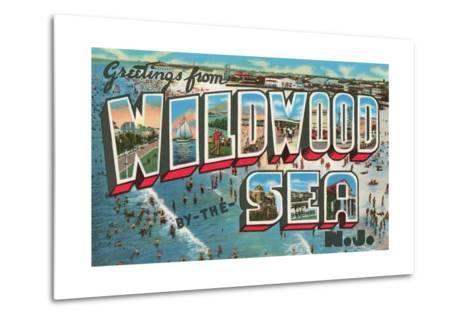 Greetings from Wildwood-By-The-Sea, New Jersey--Metal Print