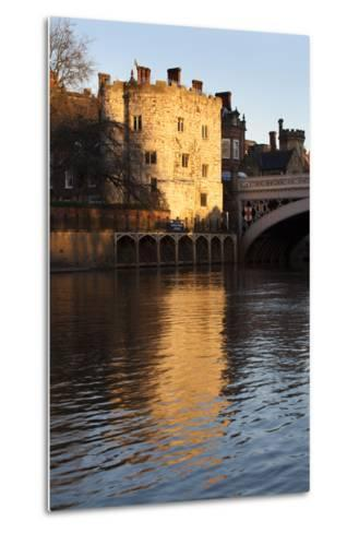 Lendal Tower and the River Ouse at Sunset, York, Yorkshire, England, United Kingdom, Europe-Mark Sunderland-Metal Print
