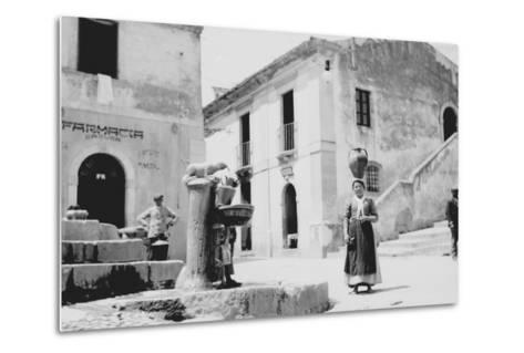 Water Fountain in Sicily--Metal Print