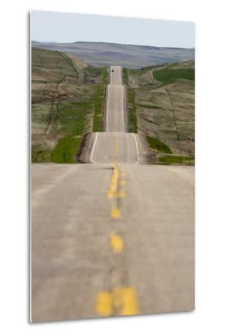 U.S. Highway 85 Through Rolling Prairie in South Dakota-Paul Souders-Metal Print