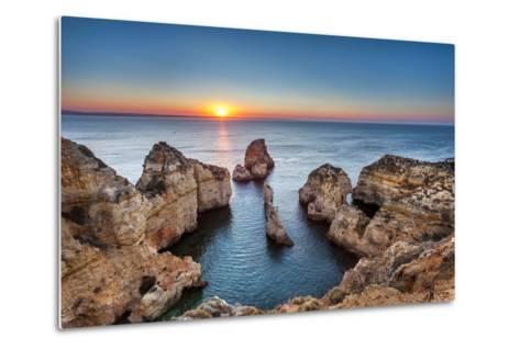 Sunrise, Ponta De Piedade, Lagos, Algarve, Portugal-Sabine Lubenow-Metal Print
