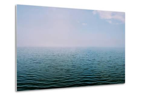The Surface of the Water Is Rippled across a Large Lake-Heather Perry-Metal Print
