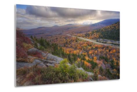Autumn Road Through the White Mountains, New Hampshire-Vincent James-Metal Print