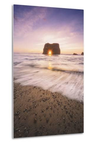 Sun Star at Elephant Rock, Fort Bragg Mendocino-Vincent James-Metal Print