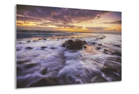 Moody East Kauai Sunrise, Hawaii-Vincent James-Metal Print