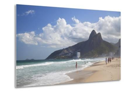 Ipanema Beach, Rio De Janeiro, Brazil, South America-Ian Trower-Metal Print