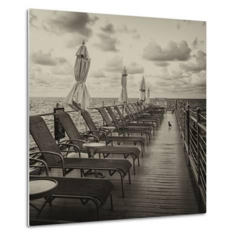 Pontoon with Deck Chairs - Key West - Florida-Philippe Hugonnard-Metal Print