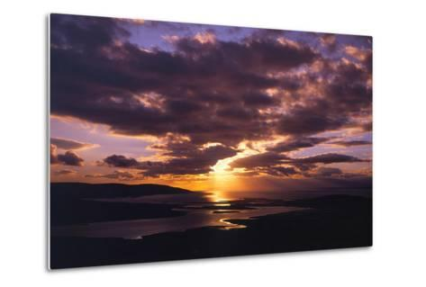 Sunset over Black Head Bay, County Mayo, Ireland-Chris Hill-Metal Print