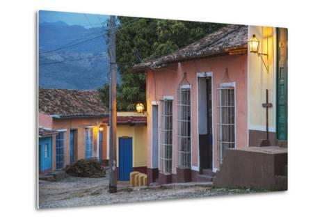 Colourful Street in Historical Center-Jane Sweeney-Metal Print