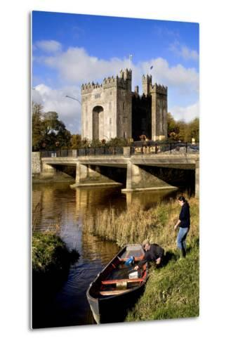 Boaters Along the Shannon River Near Bunratty Castle, County Clare, Ireland-Chris Hill-Metal Print