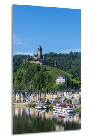 View over Cochem with Cochem Castle in the Background-Michael Runkel-Metal Print