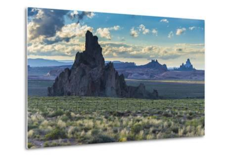 Rock Formations in the Late Daylight Near Monument Valley-Michael Runkel-Metal Print