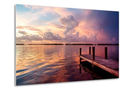 Wooden Jetty at Sunset-Philippe Hugonnard-Metal Print