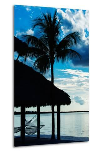 The Hammock and Palm Tree at Sunset - Beach Hut - Florida-Philippe Hugonnard-Metal Print