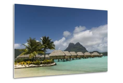 Over-The-Water Bungalows at a Tropical Resort with Clear Turquoise Water-Sergio Pitamitz-Metal Print