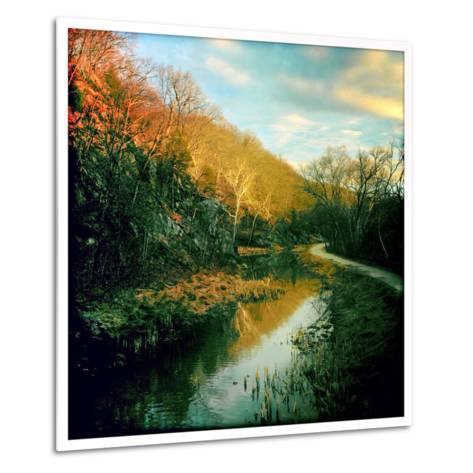 The C&O Canal Towpath Near Great Falls Historic Tavern-Skip Brown-Metal Print