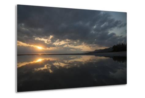 Calm Waters at Sunrise over the Alexandra Reefs, Port Douglas, Queensland-Michael Melford-Metal Print