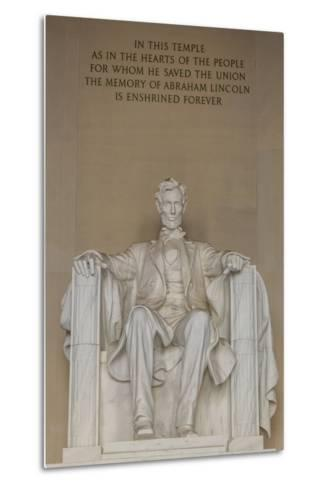 Interior View of the Lincoln Statue in the Lincoln Memorial-Michael Nolan-Metal Print