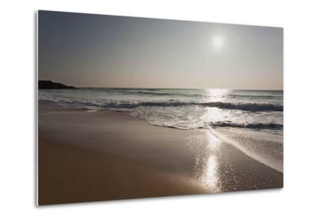 Surf at Constantine Bay, Shortly before Sunset, Near Padstow, Cornwall-Nigel Hicks-Metal Print