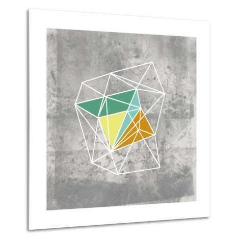 Geomolecule III-Jennifer Goldberger-Metal Print
