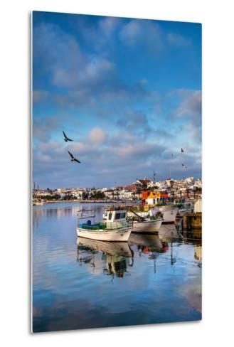 View from Fishing Harbour Towards Old Town, Lagos, Algarve, Portugal-Sabine Lubenow-Metal Print