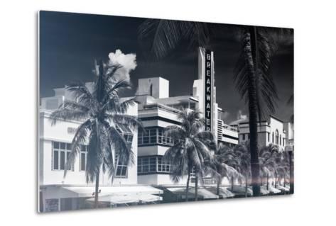 Instants of Series - Art Deco Architecture of Miami Beach - The Esplendor Hotel Breakwater-Philippe Hugonnard-Metal Print