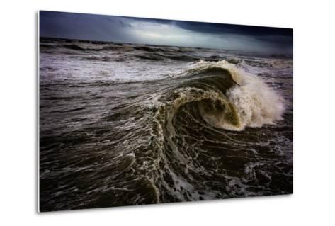 Rough Waves Break Just Off the Outer Banks in North Carolina-Chris Bickford-Metal Print