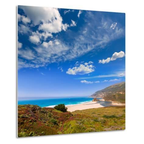 California Beach in Big Sur in Monterey Pacific Highway along State Route 1 US-holbox-Metal Print