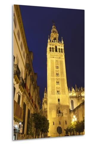 The Giralda at Night, UNESCO World Heritage Site, Seville, Andalucia, Spain, Europe-Stuart Black-Metal Print