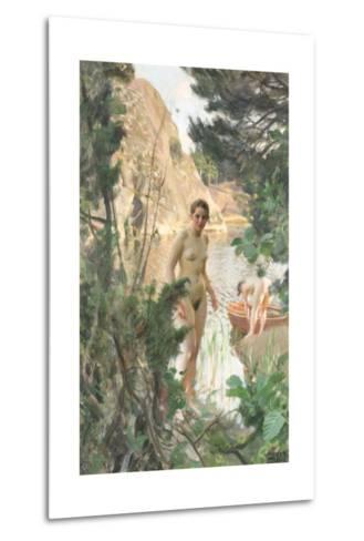 Nudes Swimming in a Lake-Anders Leonard Zorn-Metal Print