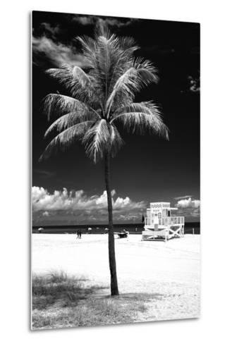South Miami Beach Landscape with Life Guard Station - Florida - USA-Philippe Hugonnard-Metal Print