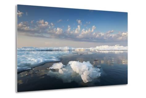 Melting Sea Ice at Sunset, Hudson Bay, Canada-Paul Souders-Metal Print