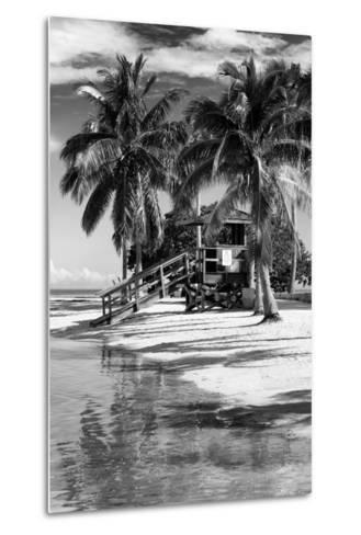 Paradisiacal Beach with a Life Guard Station - Miami - Florida-Philippe Hugonnard-Metal Print