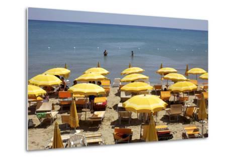 A Classical Lido on the Ionian Sea, on the Basilcata South Coast, Italy, Europe-Olivier Goujon-Metal Print