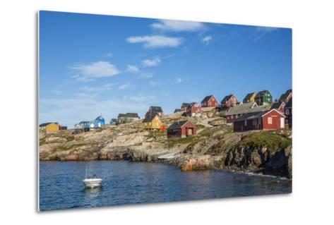 Inuit Village, Ittoqqortoormiit, Scoresbysund, Northeast Greenland, Polar Regions-Michael Nolan-Metal Print