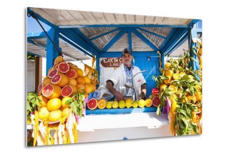 Fresh Orange Juice Vendor, Essaouira, Formerly Mogador, Morocco, North Africa, Africa-Matthew Williams-Ellis-Metal Print
