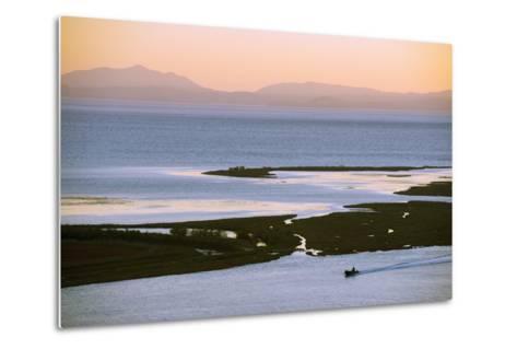 Butrint and Corfu Island in Distance, Albania, Mediterranean, Europe-Christian Kober-Metal Print