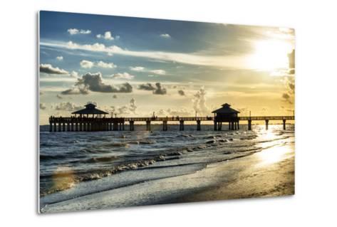 Fishing Pier Fort Myers Beach at Sunset - Florida-Philippe Hugonnard-Metal Print