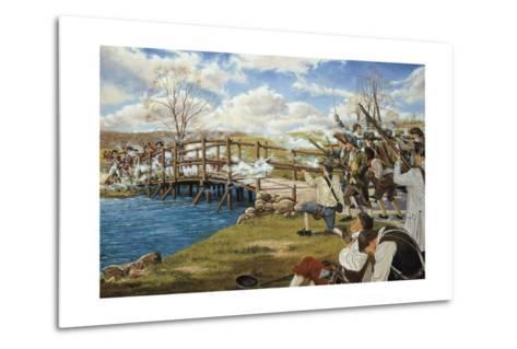 Battle of Concord--Metal Print