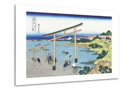 Bay of Noboto-Katsushika Hokusai-Metal Print