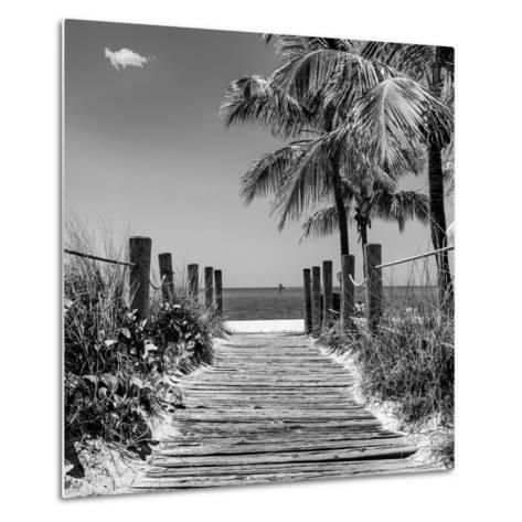 Boardwalk on the Beach - Key West - Florida-Philippe Hugonnard-Metal Print