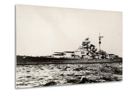 The German Battleship Bismarck of the German Kriegsmarine During Early World War II--Metal Print