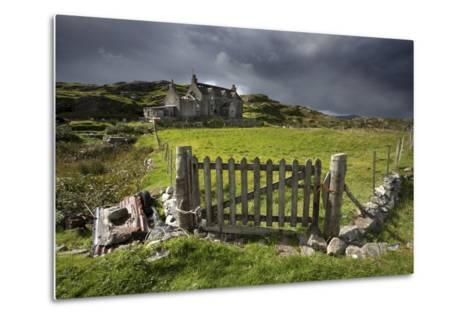 Abandoned Croft Beneath a Stormy Sky-Lee Frost-Metal Print