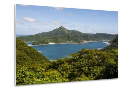 The Pago Pago Harbour, Tutuila Island, American Samoa, South Pacific-Michael Runkel-Metal Print