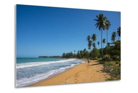 Luquillo Beach, Puerto Rico, West Indies, Caribbean, Central America-Michael Runkel-Metal Print