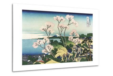 Goten-Yama Hill, at Shinagawa on the Tokaido-Katsushika Hokusai-Metal Print